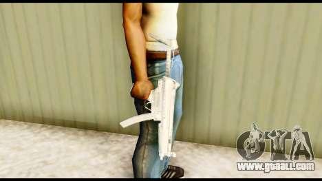 MP5 with stock for GTA San Andreas third screenshot