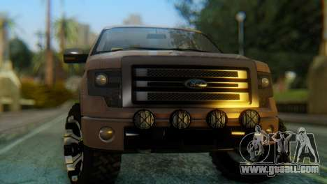 Ford F-150 2013 Work Hard for GTA San Andreas right view