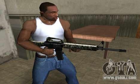 Military M4 for GTA San Andreas second screenshot