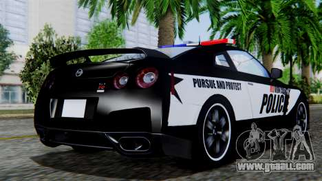 NFS Rivals Nissan GT-R R35 for GTA San Andreas left view