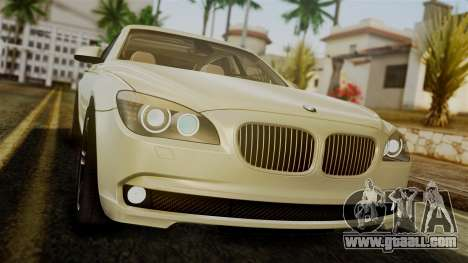 BMW 7 Series F02 2012 for GTA San Andreas inner view