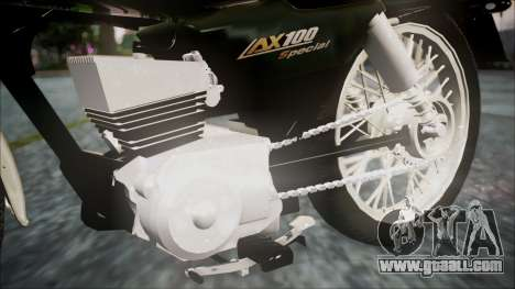 Suzuki AX 100 for GTA San Andreas right view