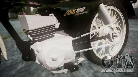 Suzuki AX 100 for GTA San Andreas right view