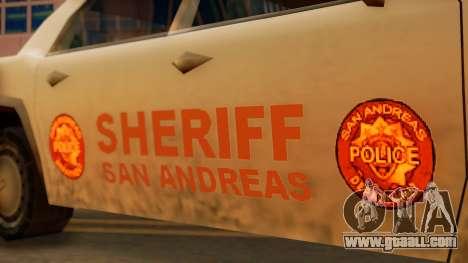 4-door Police Esperanto for GTA San Andreas back left view
