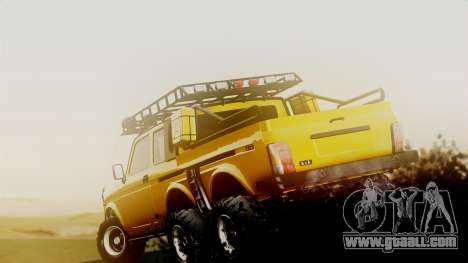 VAZ 2121 Niva 6x6 for GTA San Andreas back left view