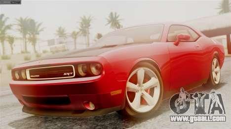 Dodge Challenger SRT8 2009 for GTA San Andreas inner view