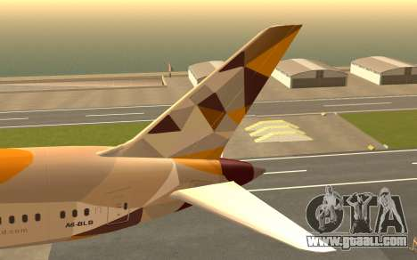 Boeing 787-9 Etihad Airways for GTA San Andreas back left view