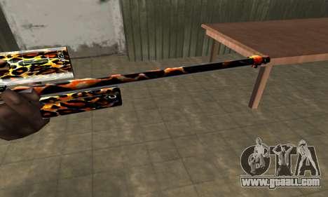 Leopard Sniper Rifle for GTA San Andreas second screenshot