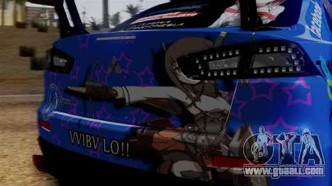 Mitsubishi Lancer Evolution X Taihou Itasha for GTA San Andreas inner view