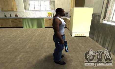 Blue Lines Deagle for GTA San Andreas third screenshot