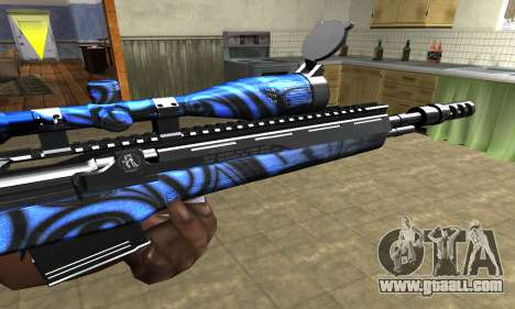Blue Limers Sniper Rifle for GTA San Andreas second screenshot