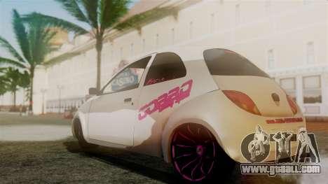 Ford Ka El Patan for GTA San Andreas back left view