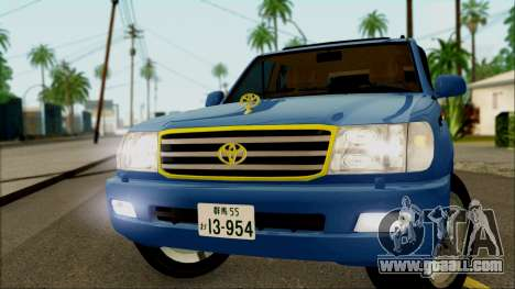 Toyota Land Cruiser 100 UAE Edition for GTA San Andreas back left view