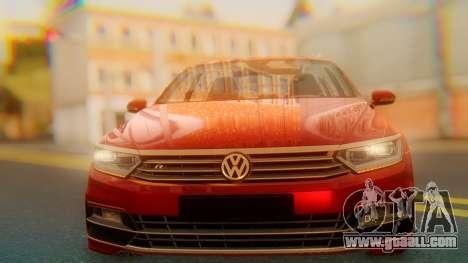 Volkswagen Passat Variant R-Line for GTA San Andreas back view