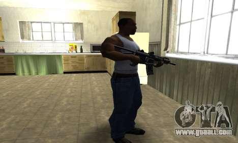 Full Black Automatic Gun for GTA San Andreas third screenshot