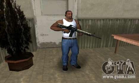 Military M4 for GTA San Andreas third screenshot