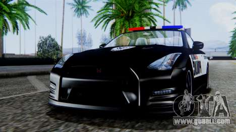 NFS Rivals Nissan GT-R R35 for GTA San Andreas back left view