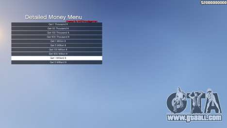 GTA 5 Detailed Money Menu third screenshot