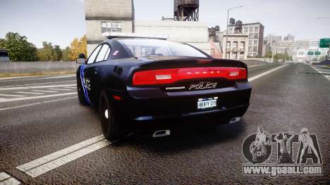 Dodge Charger 2014 LCPD [ELS] for GTA 4 back left view