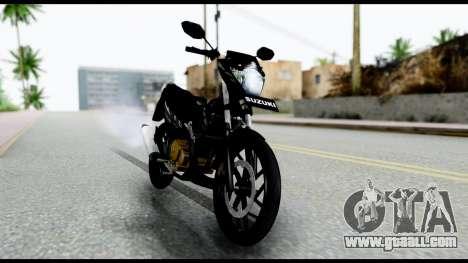Satria FU Dark Fighter Predator for GTA San Andreas back left view