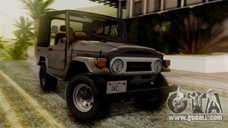 Toyota Land Cruiser J40 1980 for GTA San Andreas