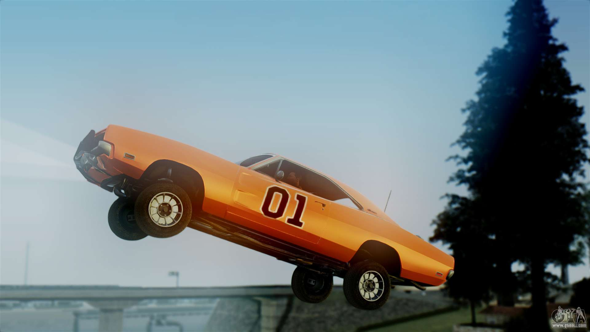 3 Wheel Car >> Dodge Charger General Lee for GTA San Andreas