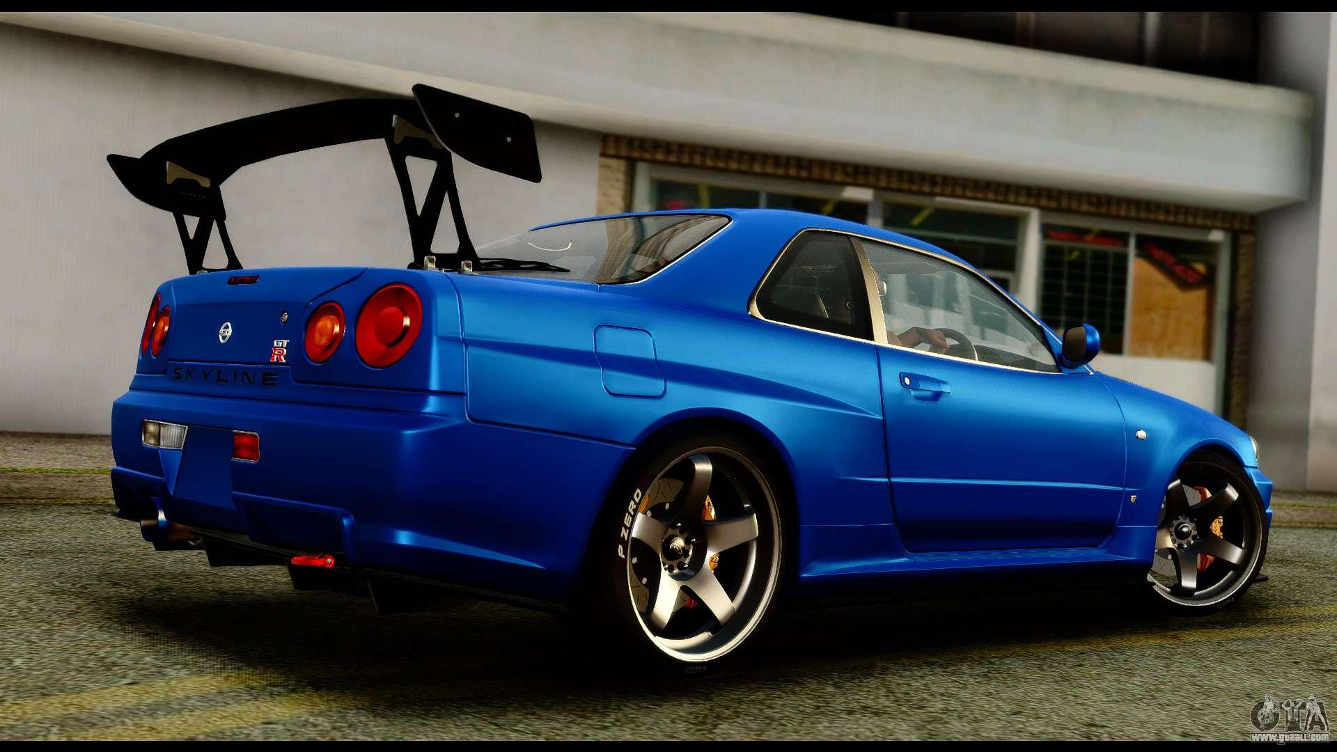 Nissan Skyline Gt R Bnr34 Tuned For Gta San Andreas