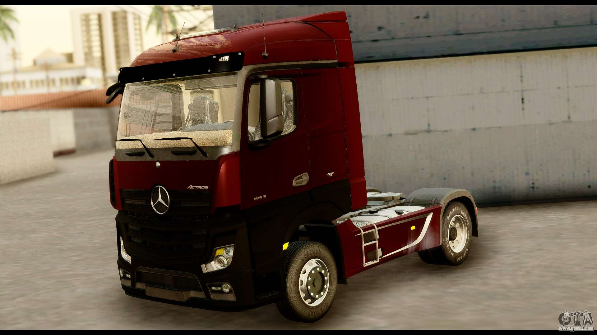 mercedes benz actros mp4 4x2 standart interior for gta san andreas. Black Bedroom Furniture Sets. Home Design Ideas