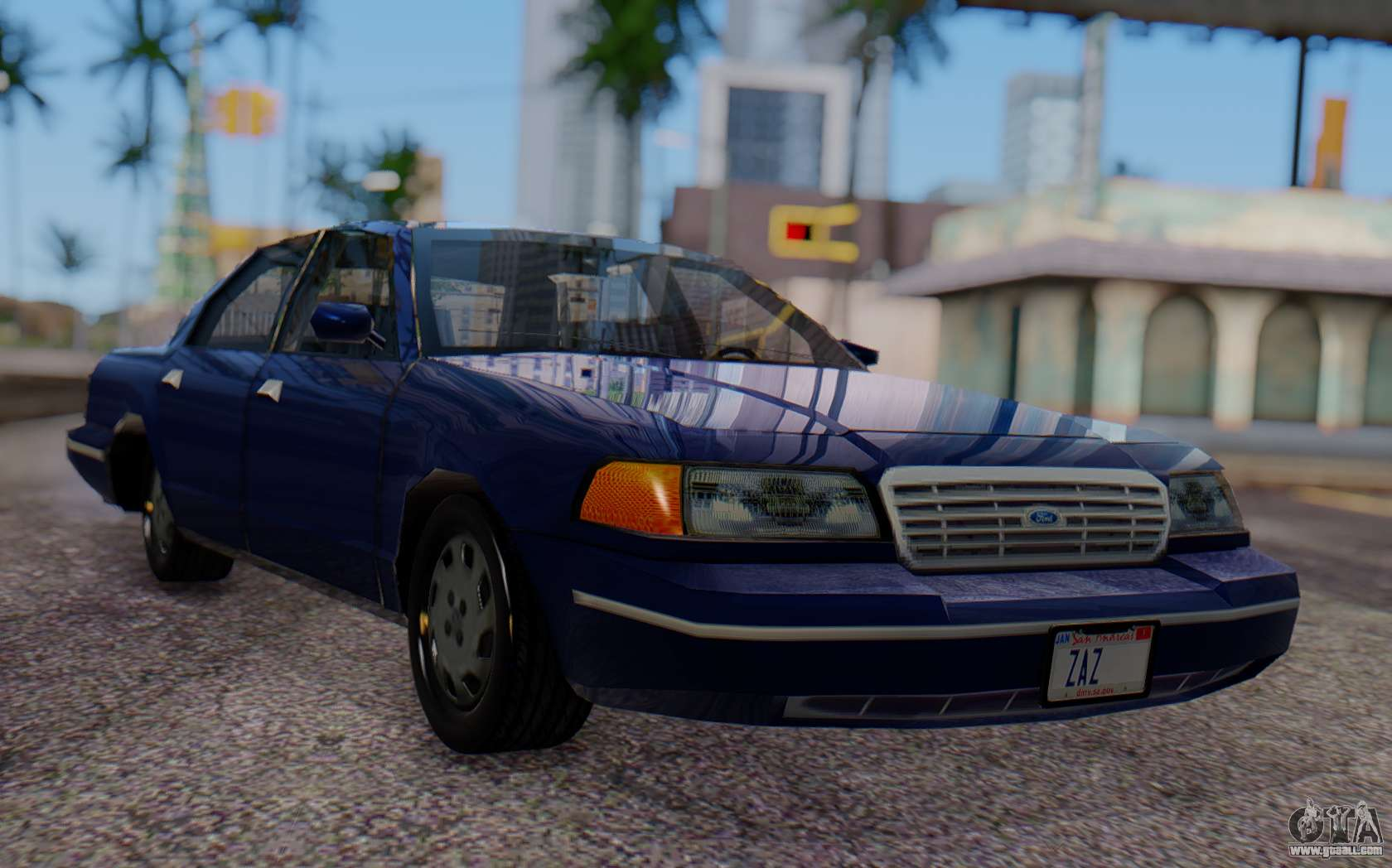 ford crown victoria civillian for gta san andreas. Black Bedroom Furniture Sets. Home Design Ideas