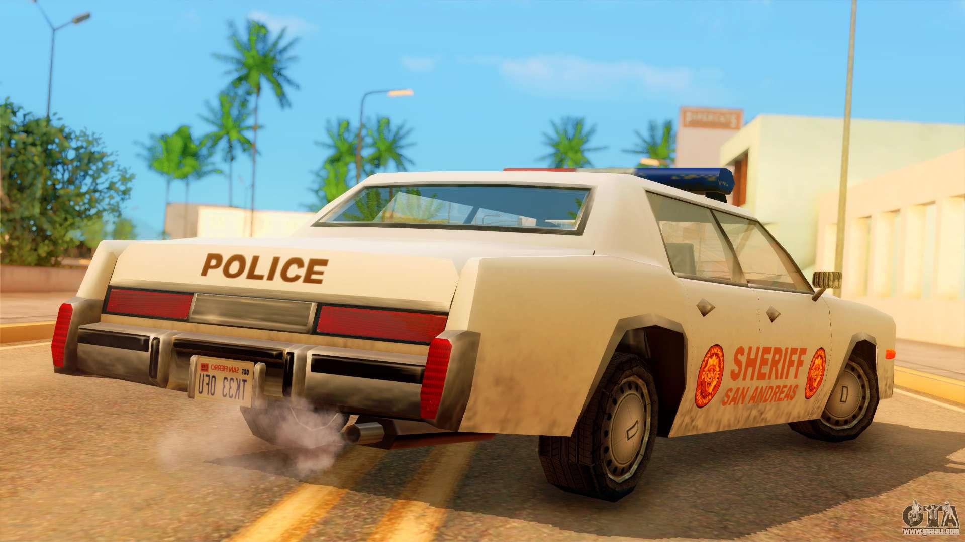 4-door Police Esperanto for GTA San Andreas left view & 4-door Police Esperanto for GTA San Andreas