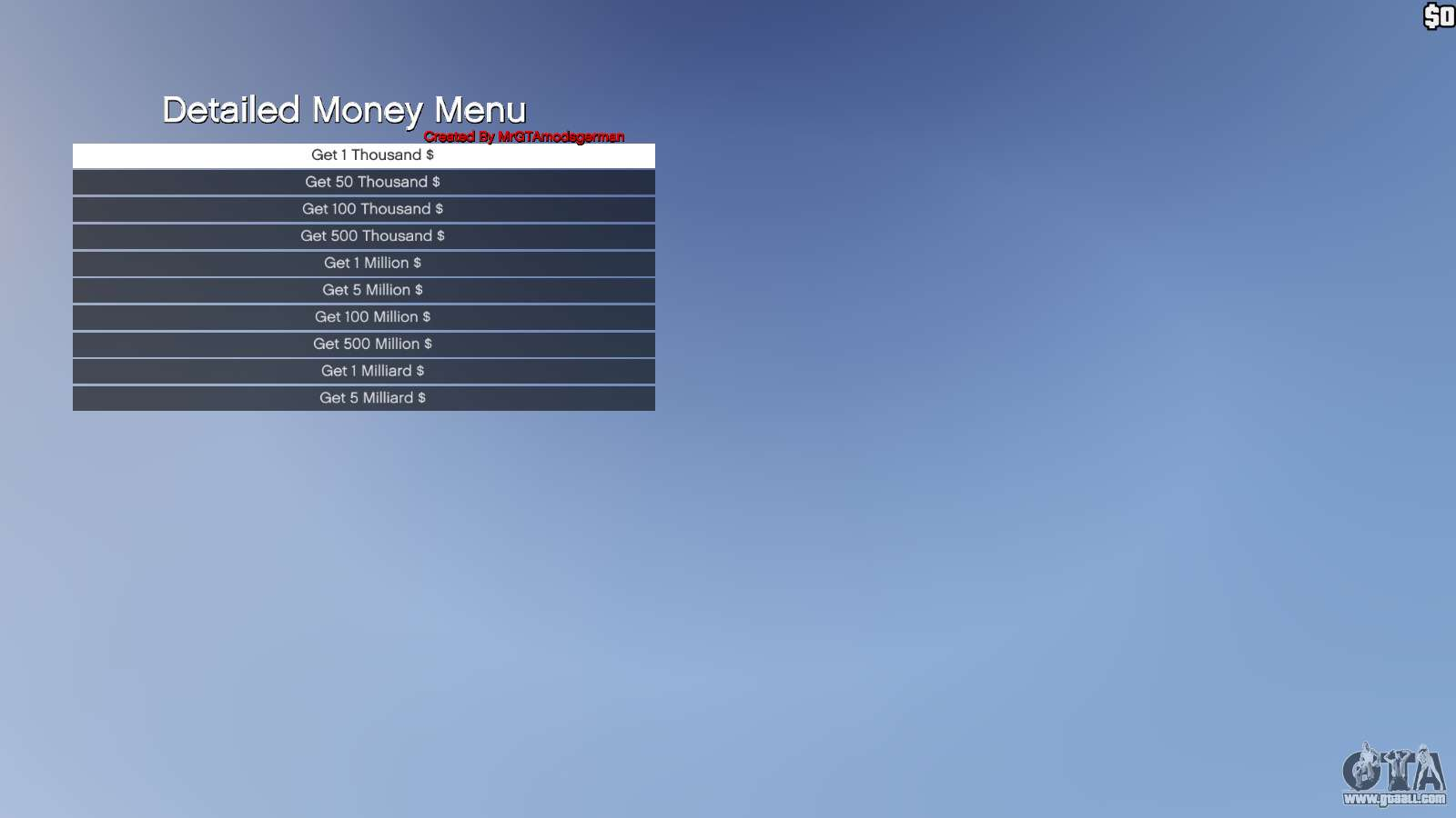 Review mod menu gta 5