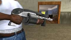 Silver Granate Combat Shotgun for GTA San Andreas