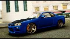 Nissan Skyline GT-R (BNR34) Tuned for GTA San Andreas