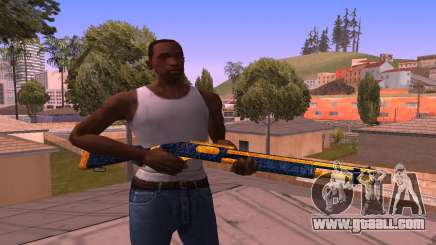 Shotgun BlueYellow for GTA San Andreas