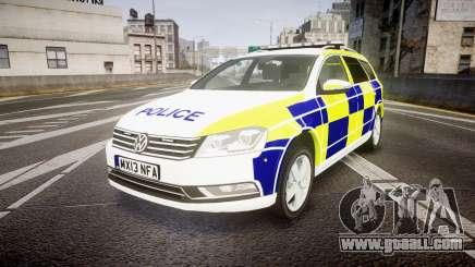 Volkswagen Passat B7 North West Police [ELS] for GTA 4