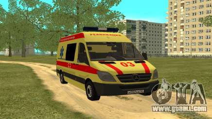 Mercedes-Benz Sprinter Resuscitation for GTA San Andreas