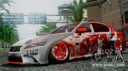 Lexus GS350 Stance Itsuka Kotori for GTA San Andreas
