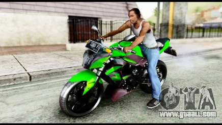 Kawasaki Z250SL Green for GTA San Andreas
