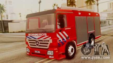 Mercedes-Benz Actros Bomberos for GTA San Andreas