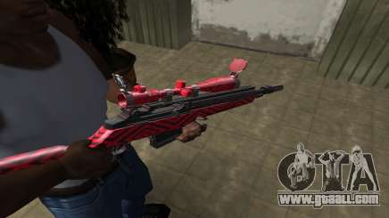 Red Romb Sniper Rifle for GTA San Andreas