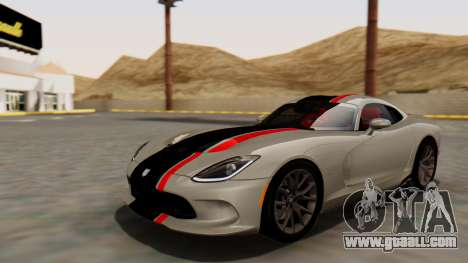 Dodge Viper SRT GTS 2013 HQLM (MQ PJ) for GTA San Andreas side view