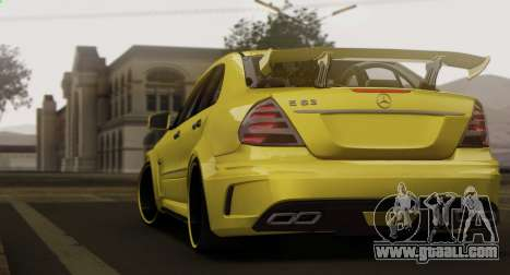 Mercedes-Benz E63 Qart Tuning for GTA San Andreas back view