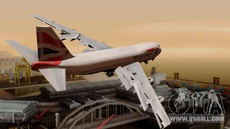 Boeing 747 British for GTA San Andreas left view