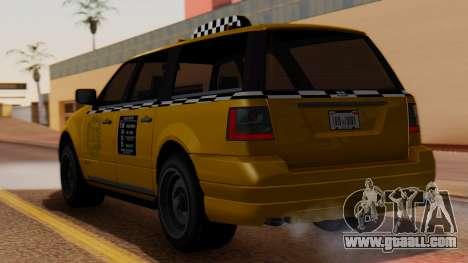 Landstalker Taxi SR 4 Style for GTA San Andreas left view