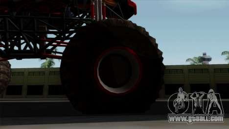 The Seventy Monster v2 for GTA San Andreas back view