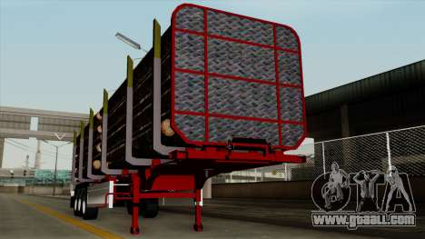 Trailer Fliegl v2 for GTA San Andreas back view
