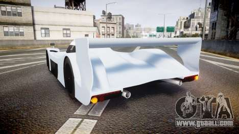 Toyota GT-One TS020 blank spoiler for GTA 4 back left view