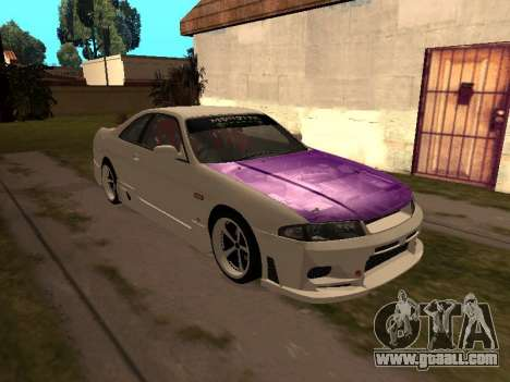 Nissan Skyline R33 Drift Monster Energy JDM for GTA San Andreas side view