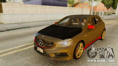 Mercedes-Benz A45 AMG 2012 PJ for GTA San Andreas bottom view
