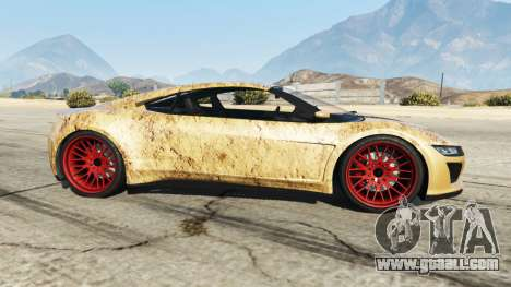 GTA 5 Dinka Jester (Racecar) Dirt left side view